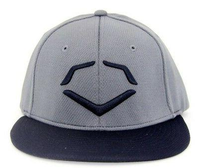 men s lock shields fitted hat charcoal