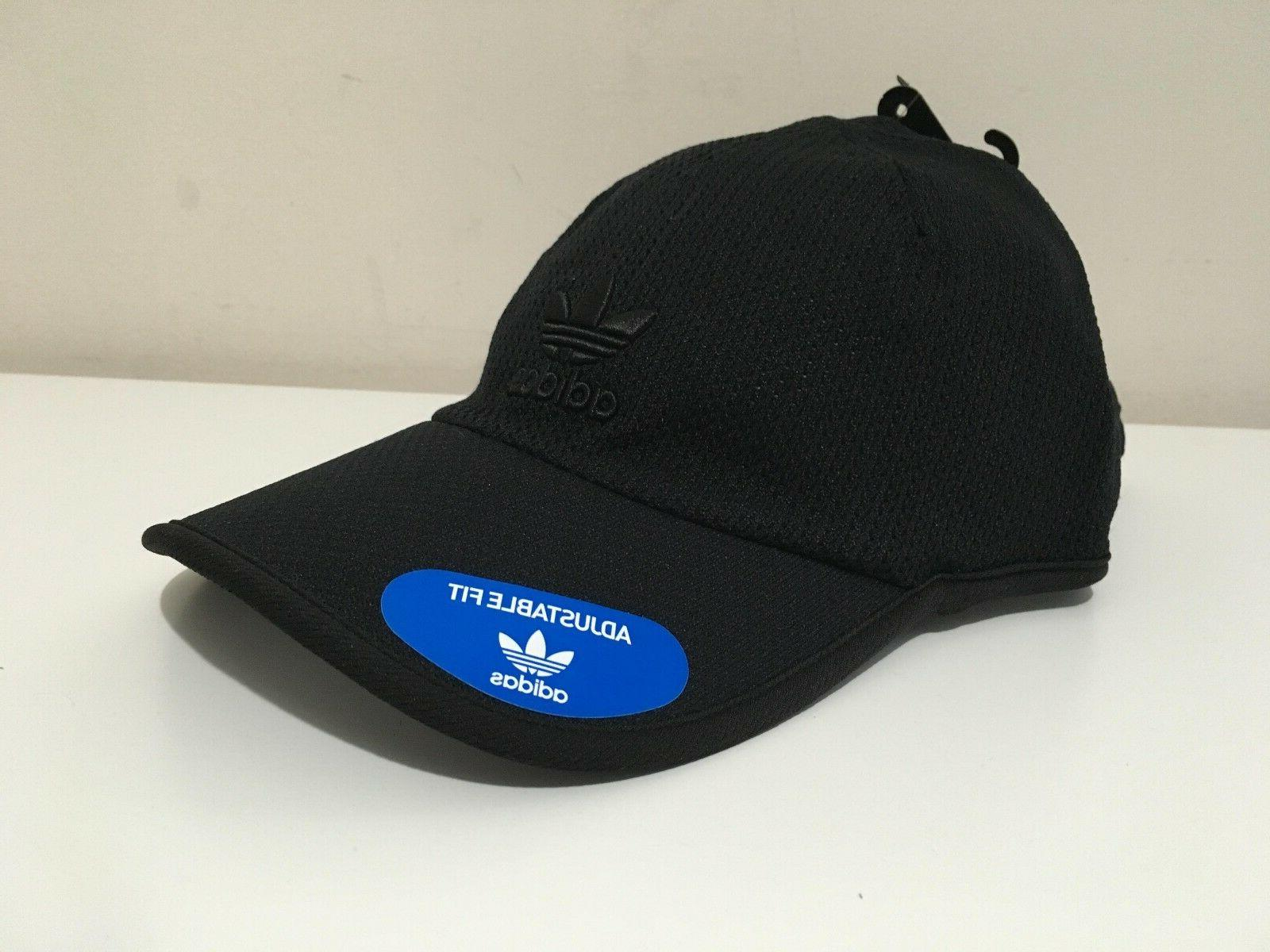 ADIDAS MEN'S ORIGINAL PRIME STRAP-BACK PERFORATED BLACK CAP