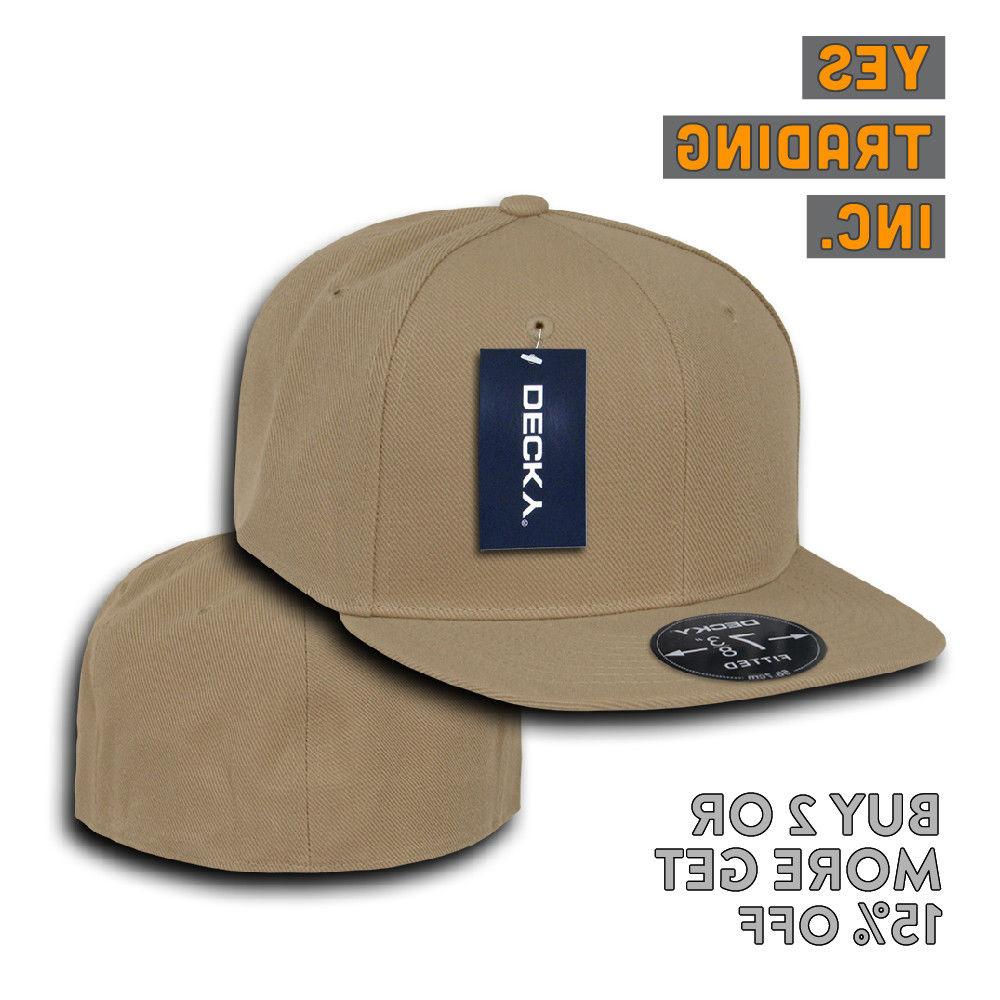 DECKY CASUAL HAT BILL HATS FITTED PLAIN CAPS