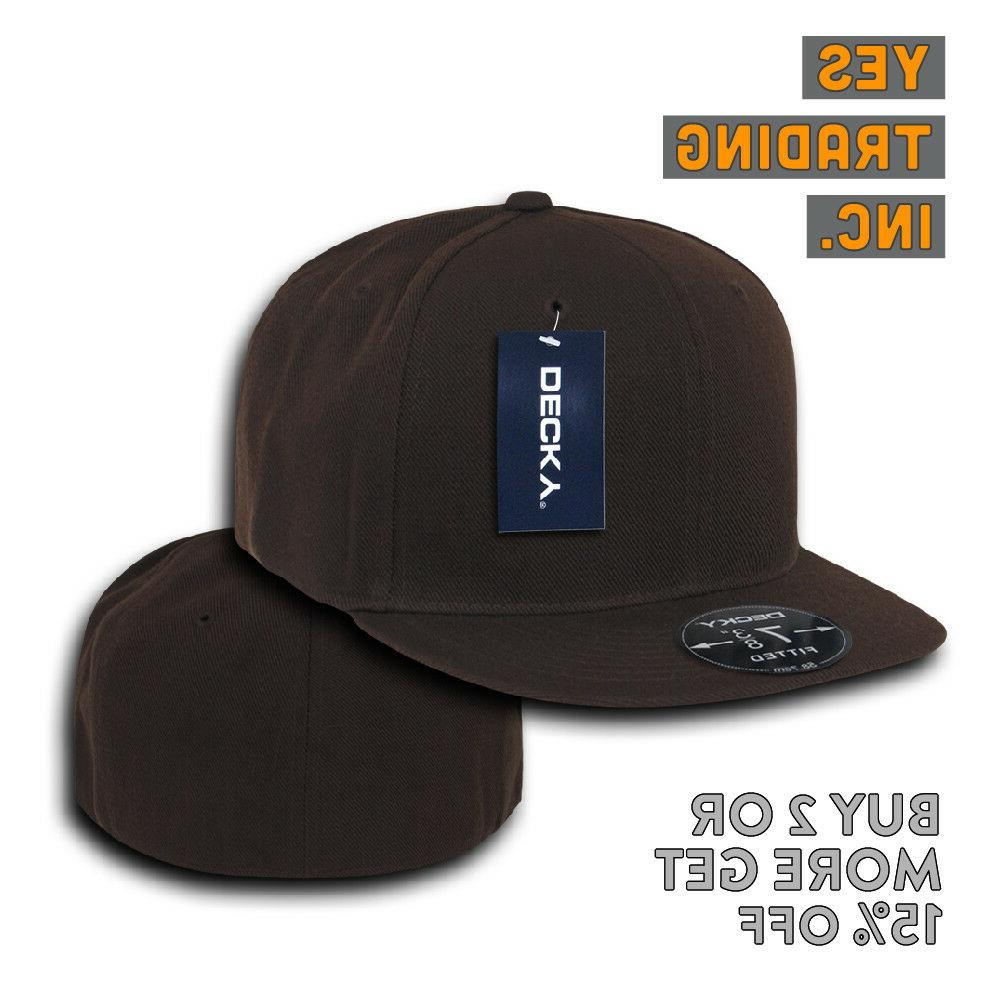 DECKY BASEBALL HAT FLAT BILL HATS FITTED CAP PLAIN CAPS COLORS