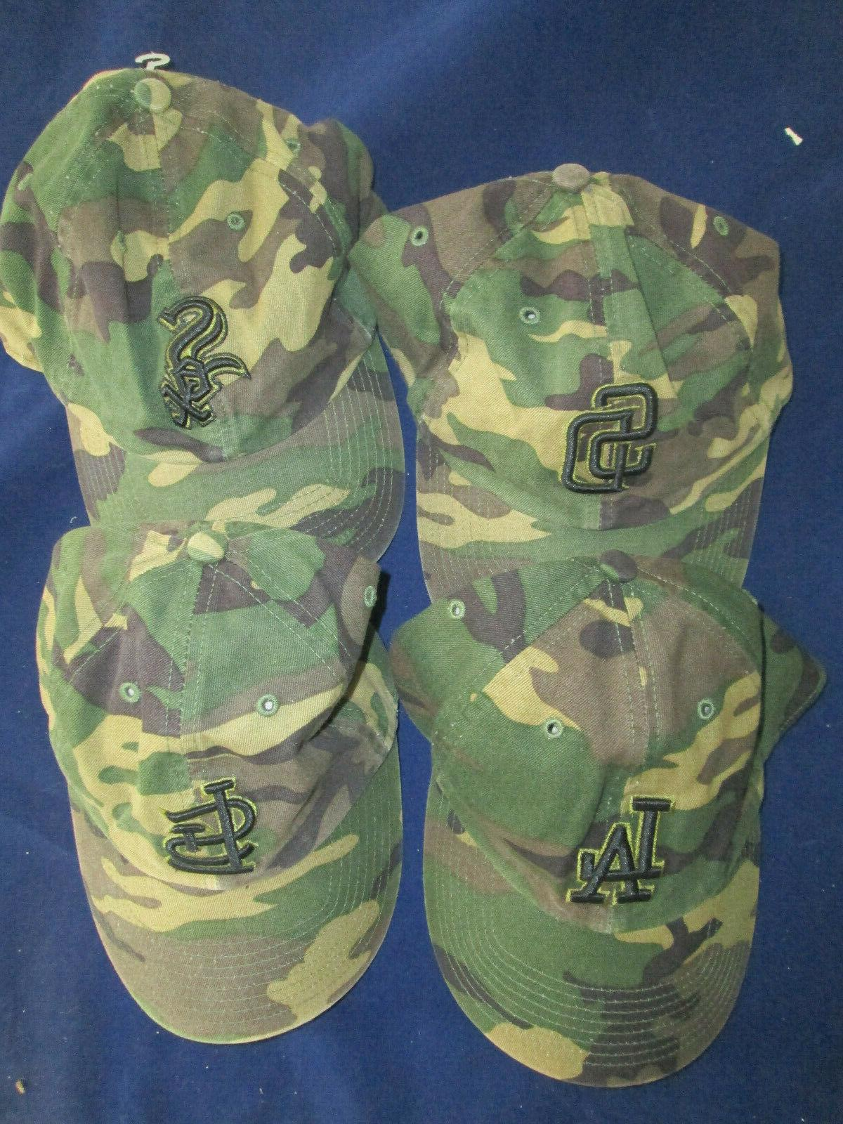 mens mlb baseball hat camouflage fitted small