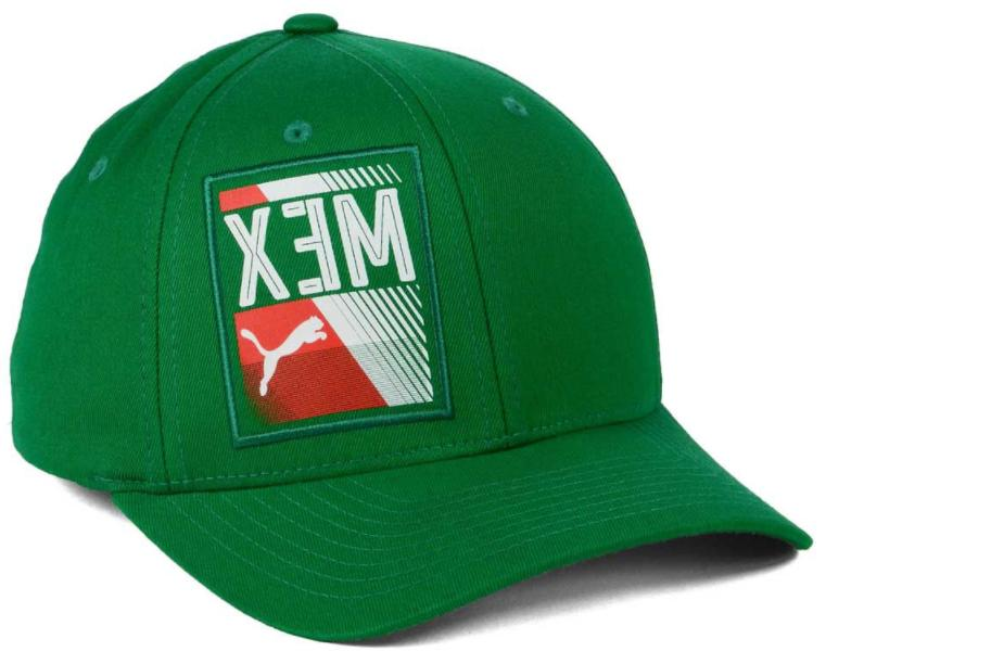mexico country flexfit stretch fit green cap