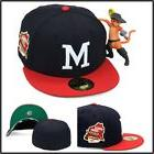 New Era Milwaukee Braves Fitted Hat Cap 1957 World Series Si