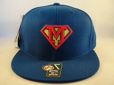 milwaukee brewers mlb superman fitted hat cap
