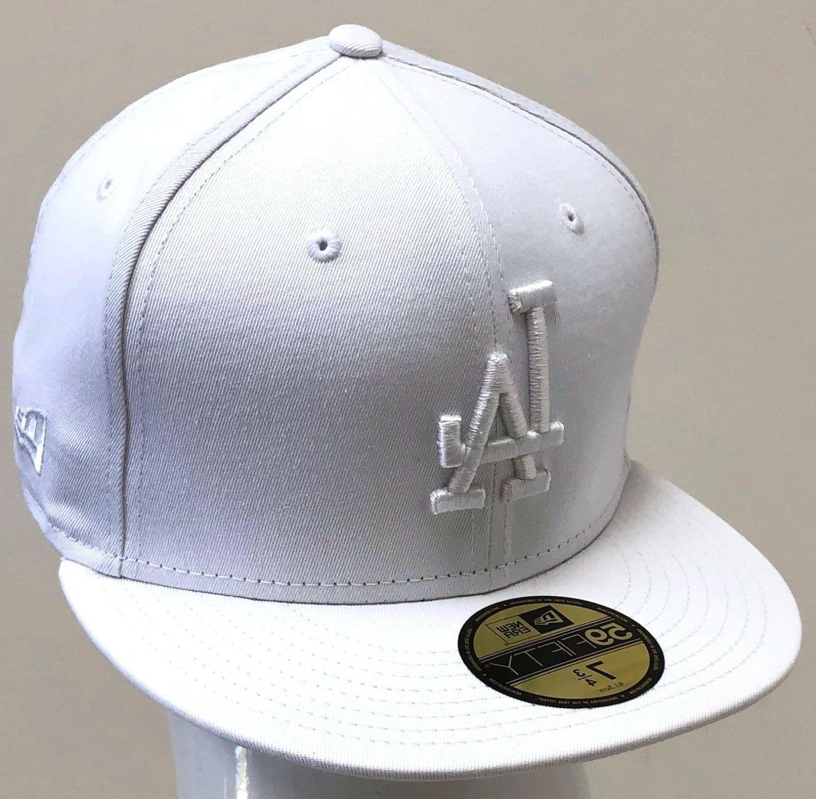 mlb 59fifty fitted los angeles dodgers white