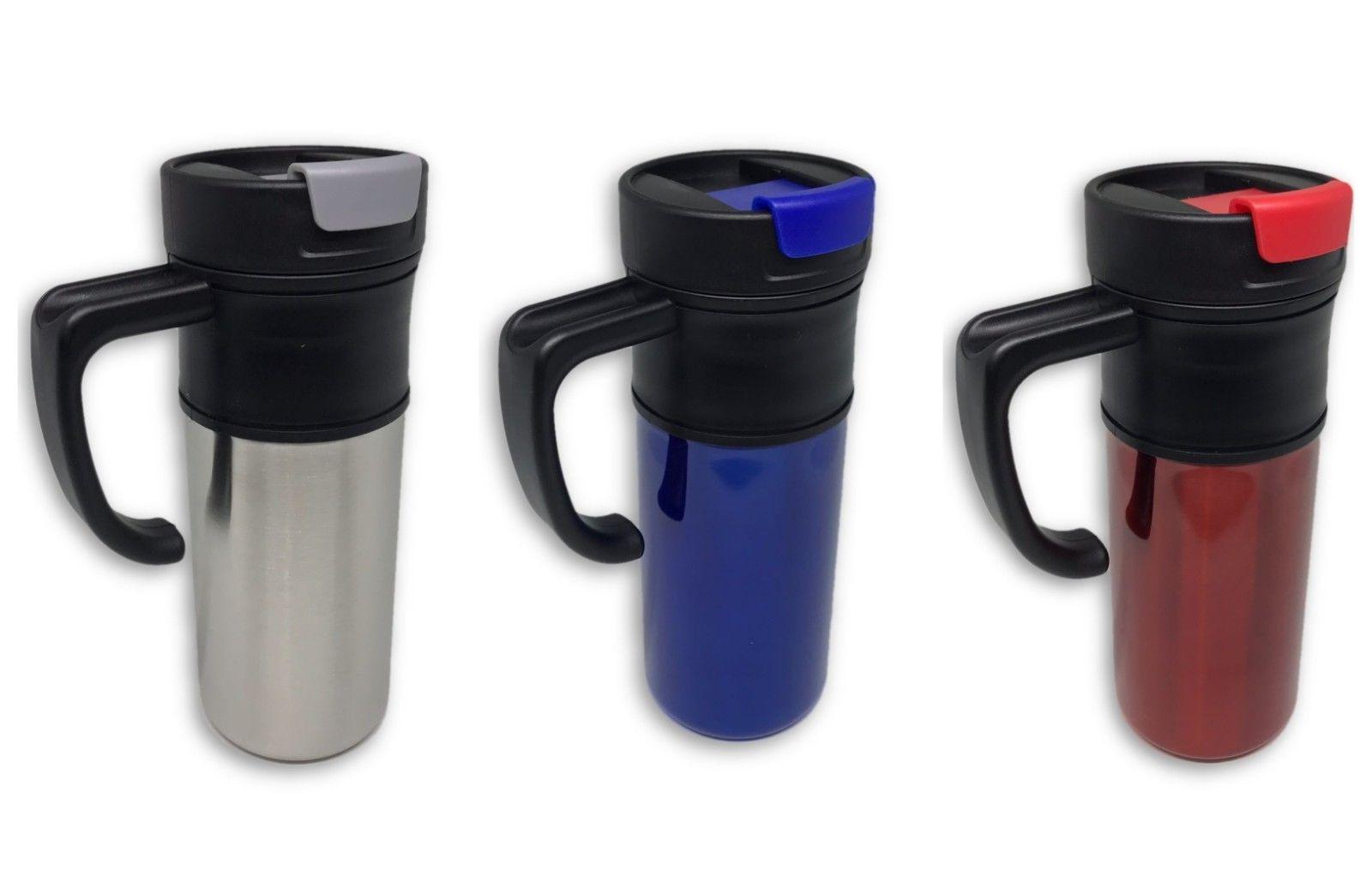 New 16OZ Stainless Steel Coffee Cup with Handle Insulated Th