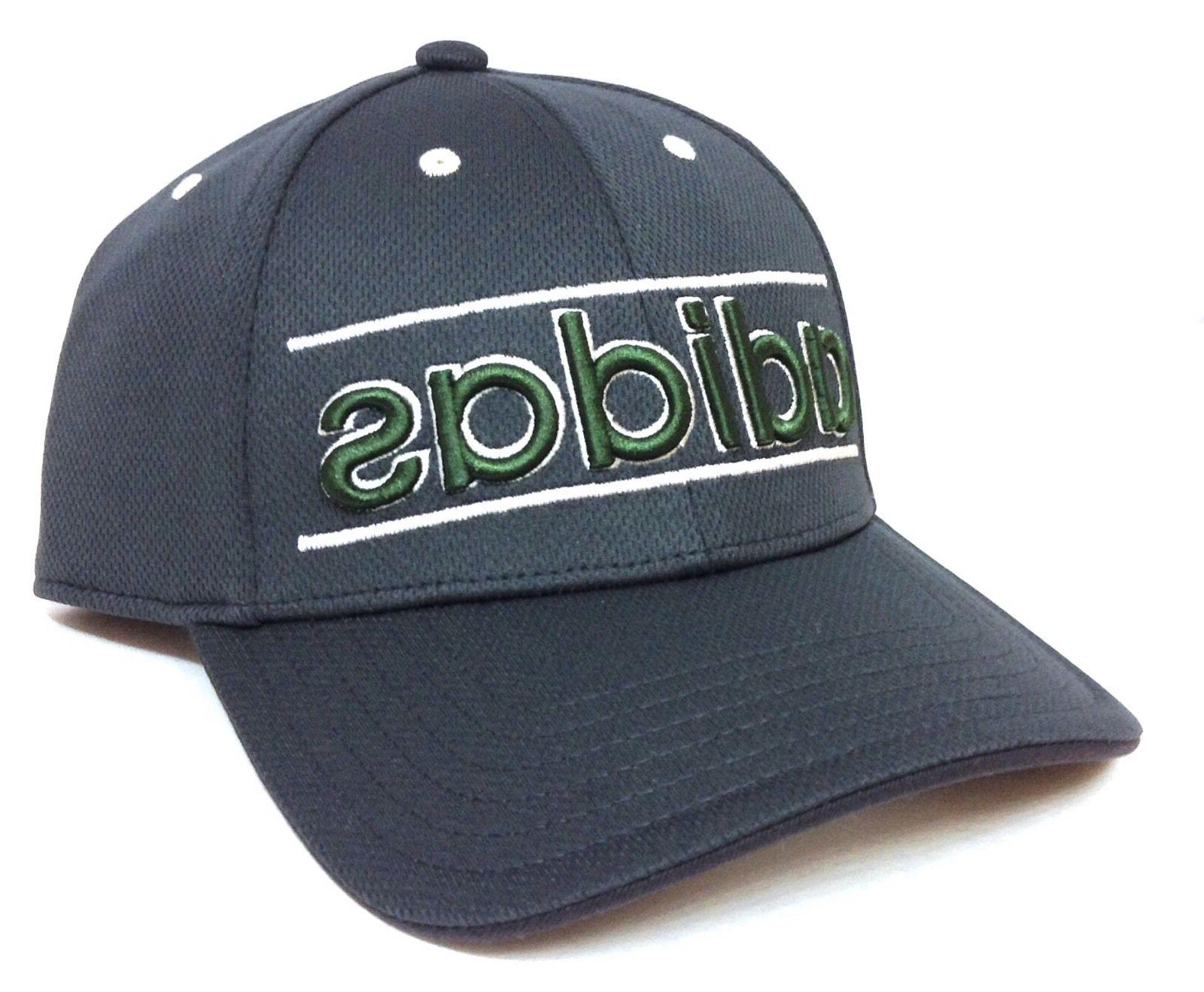 new ADIDAS CLIMALITE ATHLETIC DRY-FIT HAT Gray/Green/White G