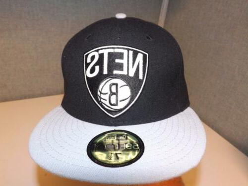 new brooklyn nets mens flat brim fitted