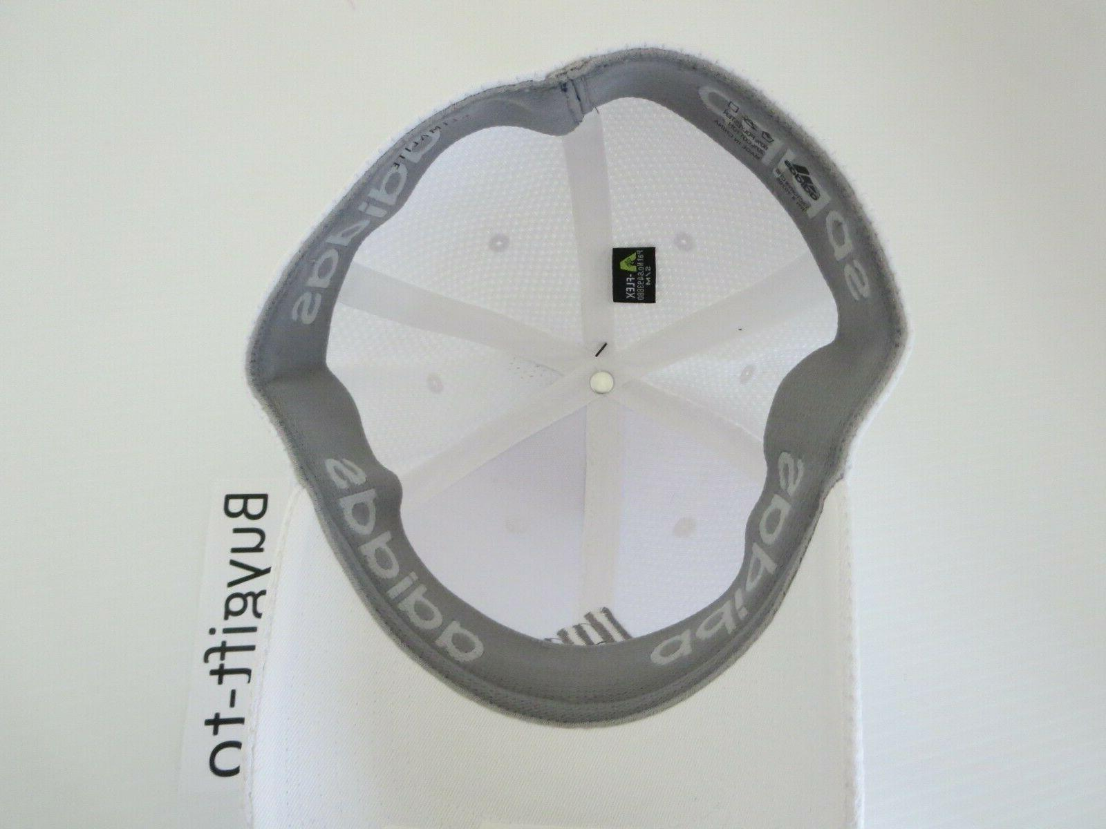 New Adidas Climalite Nothing Baseball Stretch Hat Cap White