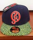 59fifty New Era Men Quicksilver Hat Blue Green Orange Fitted