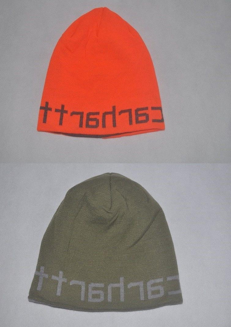 new men knit greenfield reversible hat stocking