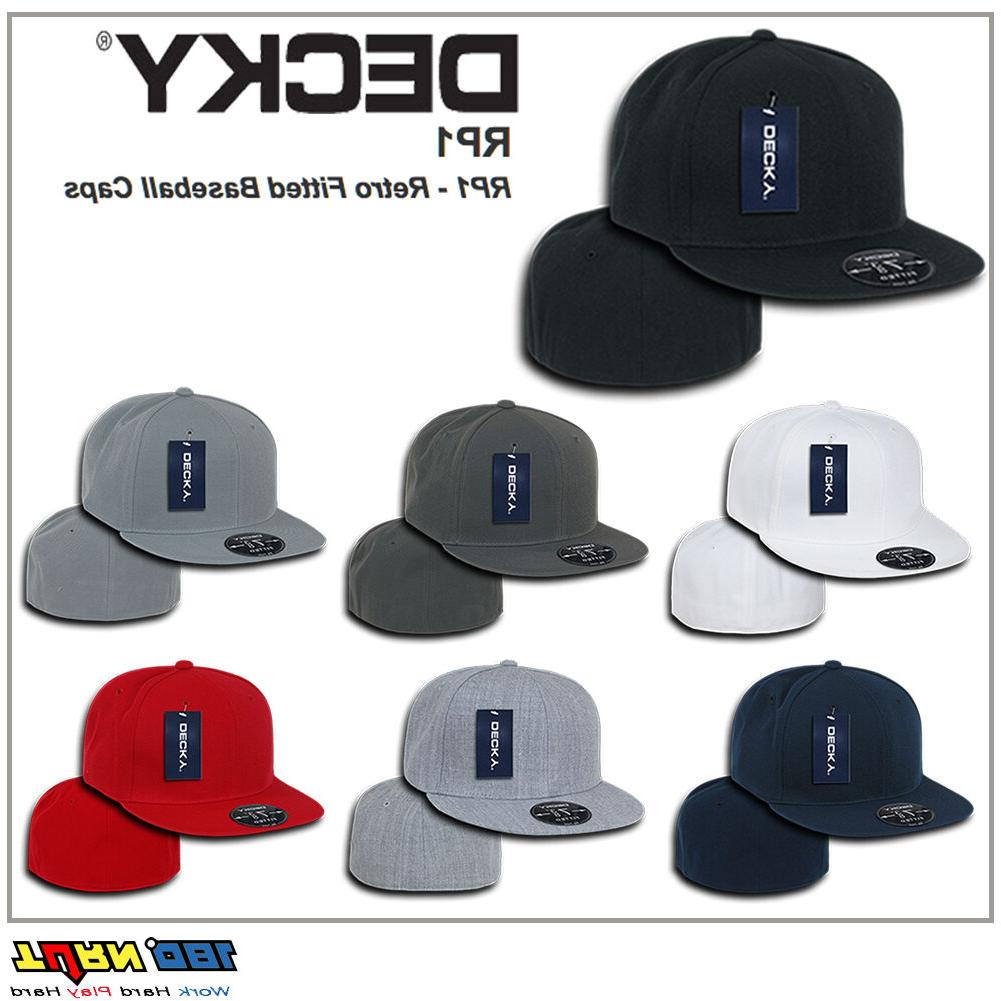rp1 retro fitted flat brim casual baseball