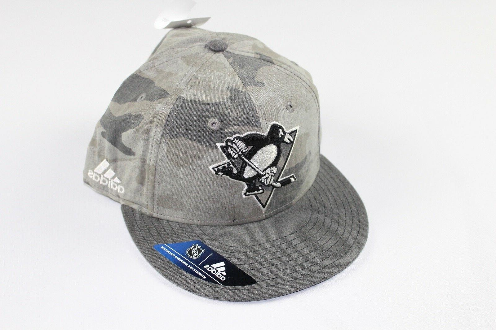 New Sample ADIDAS Pittsburgh Penguins Hockey 7 3/8 Fitted Ca