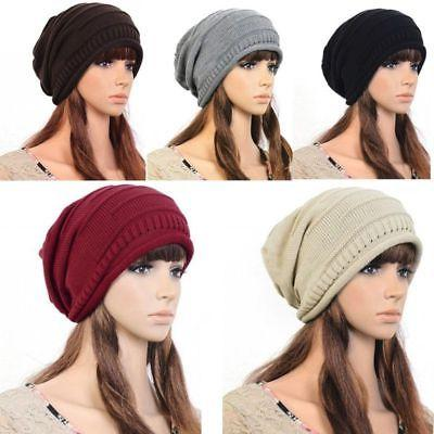 NEW Unisex Womens Mens Knit Baggy Beanie Beret Hat Winter Wa