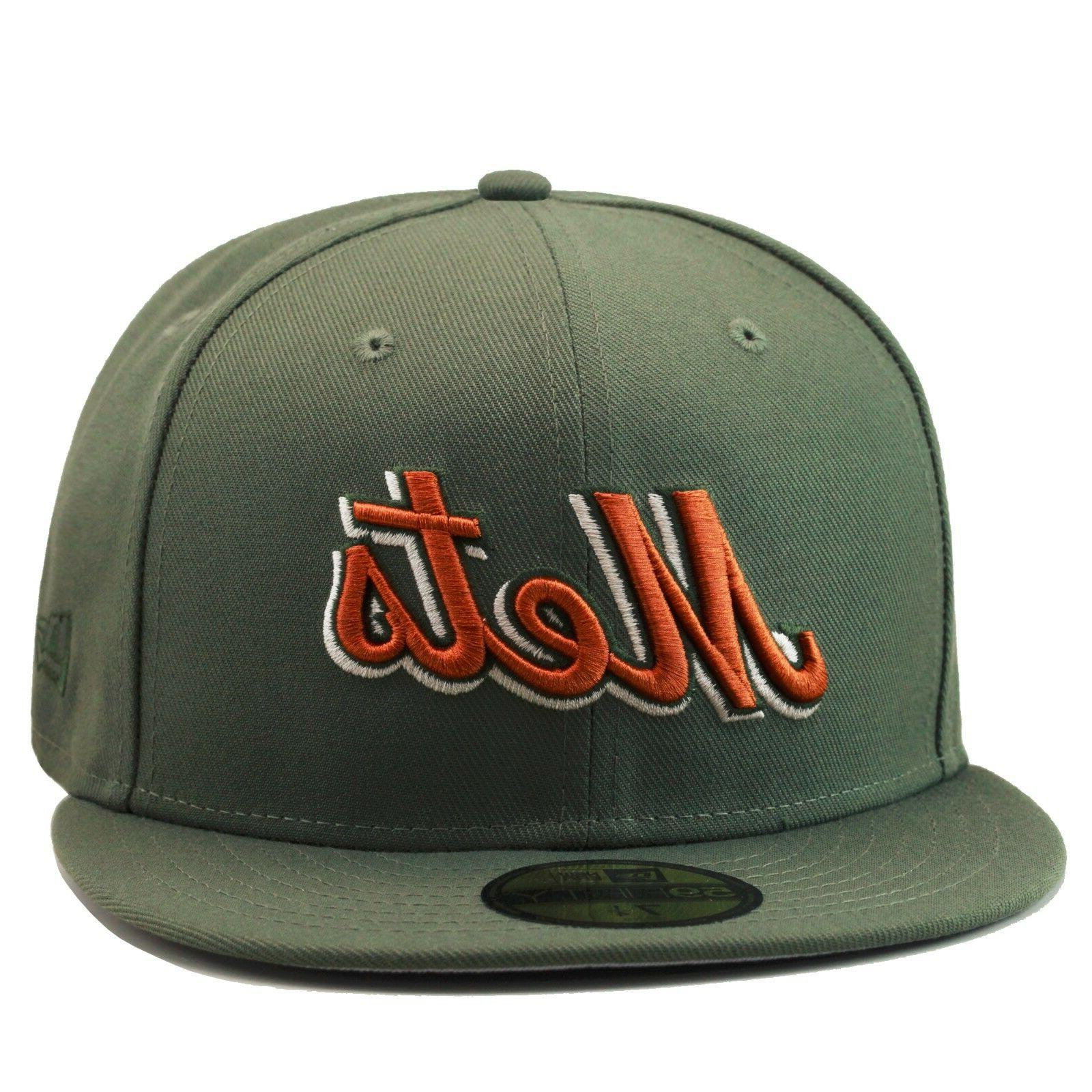 new york mets fitted hat olive green