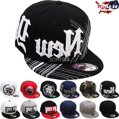 New York NY Embroidered Hip Hop Fitted Cap Hat Street Flat B