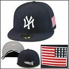 New Era New York Yankees Fitted Hat All Navy/USA US American