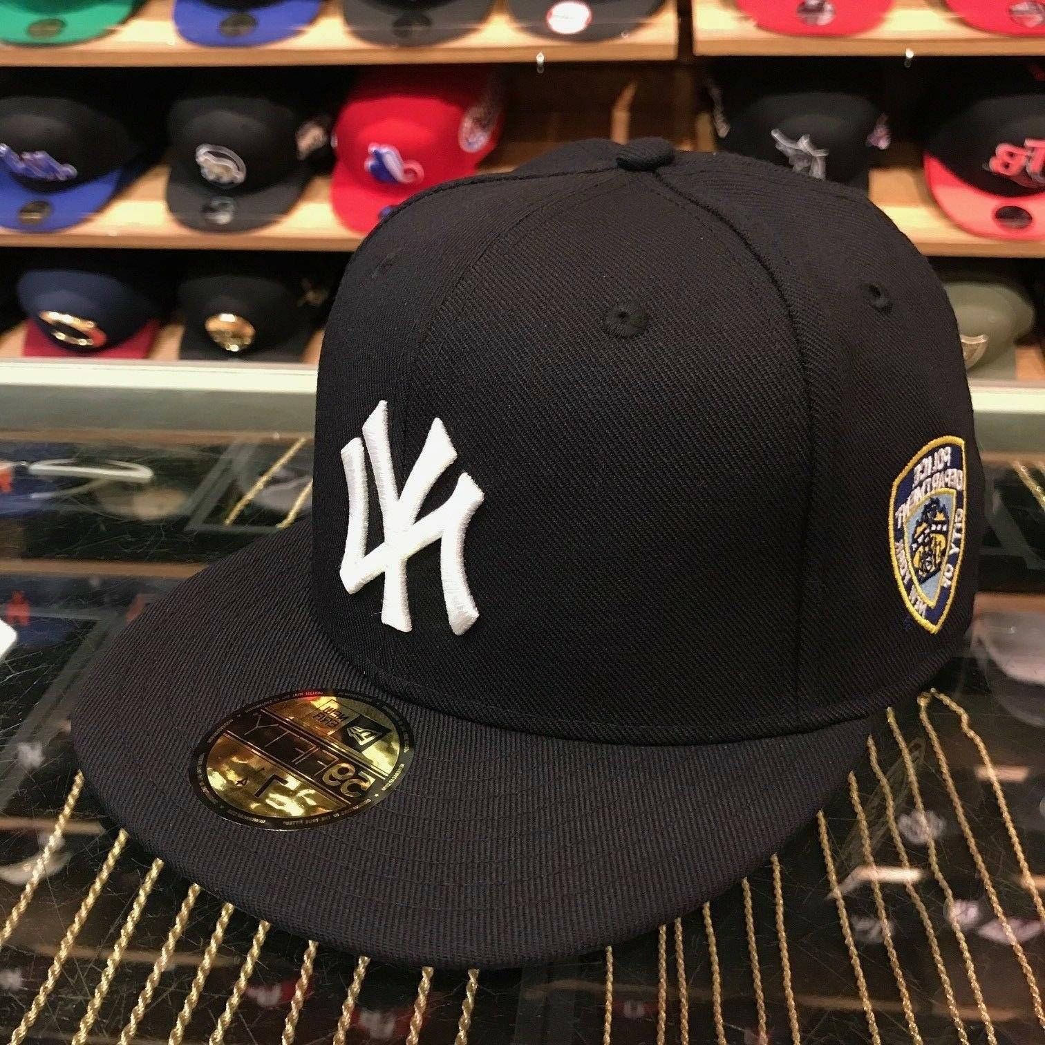 "New Era New York Yankees Fitted Hat All Navy/White/""NYPD"" Si"