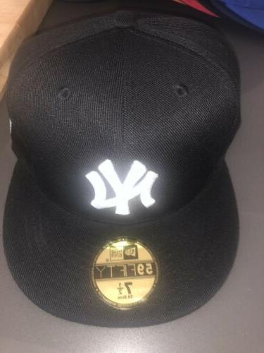 new york yankees fitted hat cap black