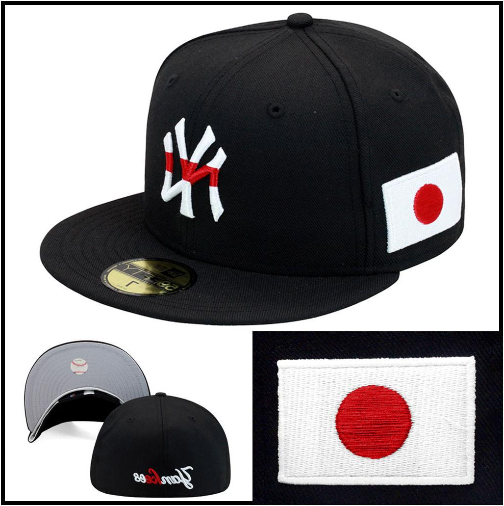 New Era New York Yankees Fitted Hat Cap Japanese Flag Tanaka