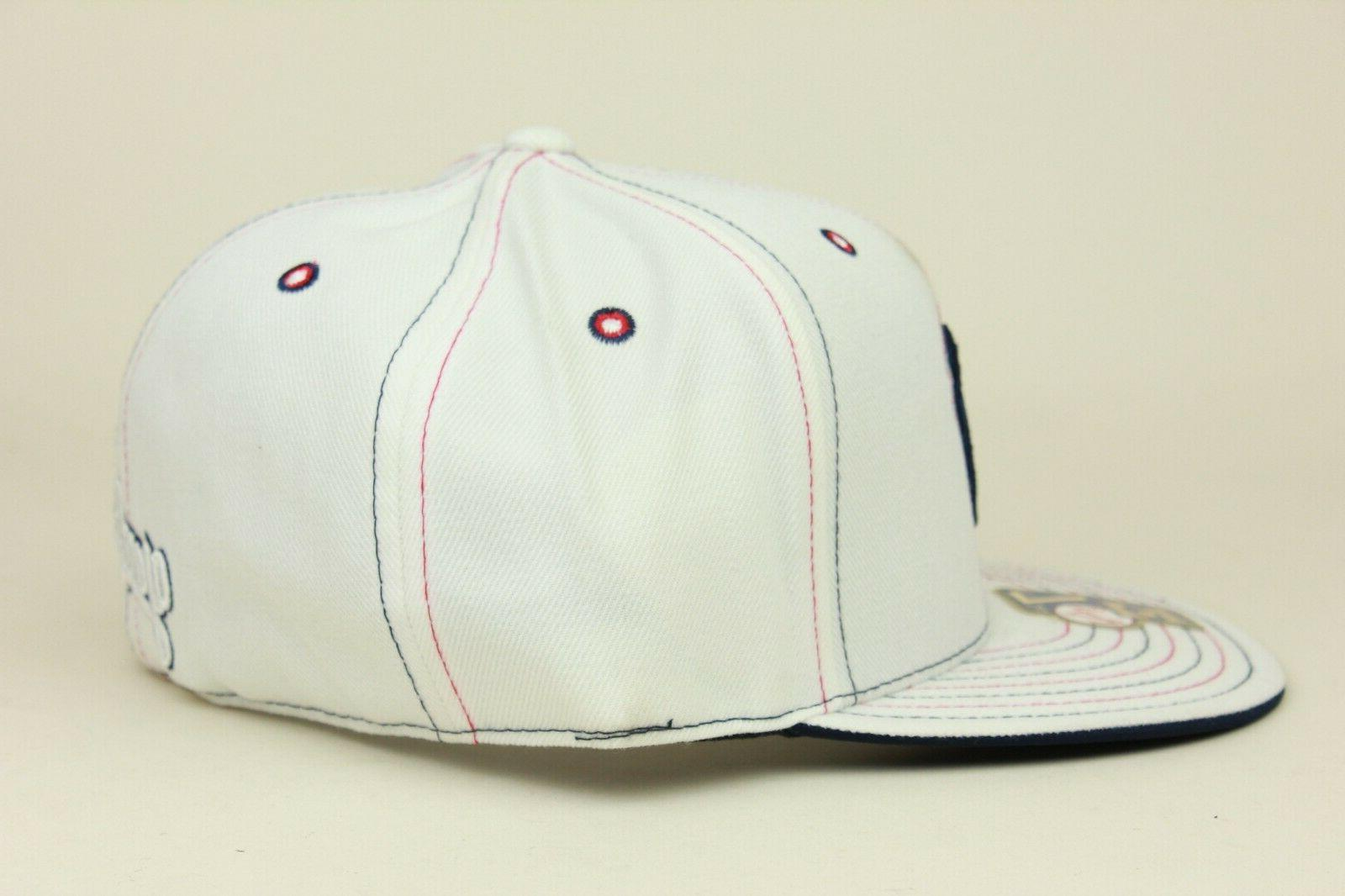 New York Yankees White Navy Needle Cooperstown Hat DEF