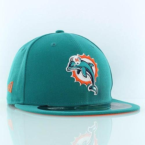 NFL Miami Dolphins On Field 5950 Aqua Cap, 7 1/2