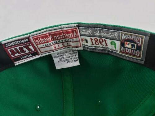 Philadelphia Cooperstown Fitted Hat Green Size