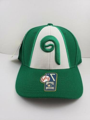 philadelphia phillies cooperstown fitted hat green size