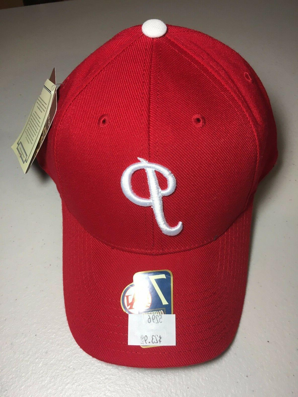 philadelphia phillies mlb cooperstown collection red fitted