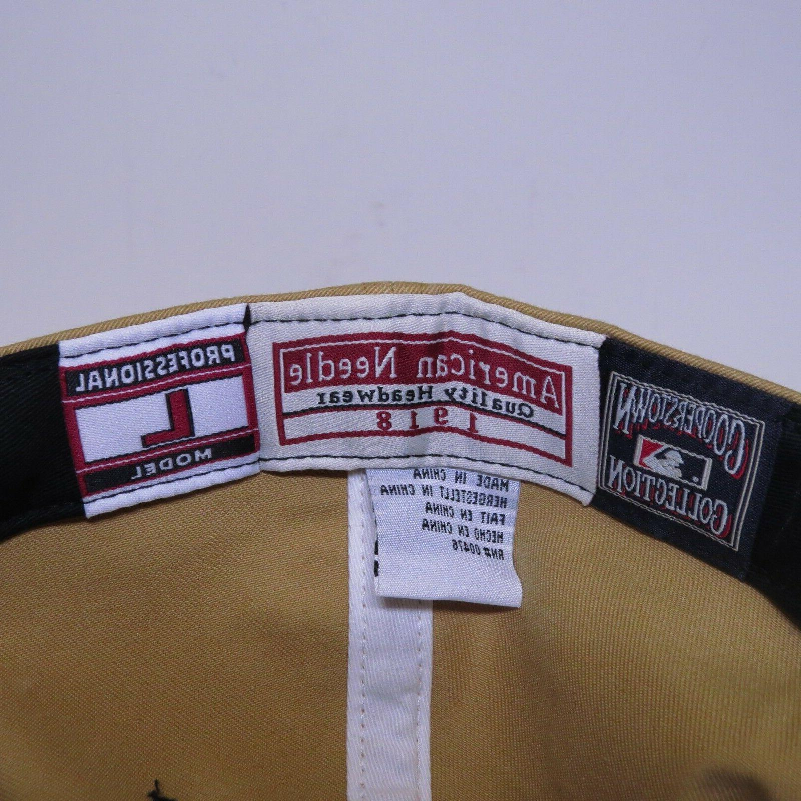 American Needle Fitted Cap/Hat Tan/Black