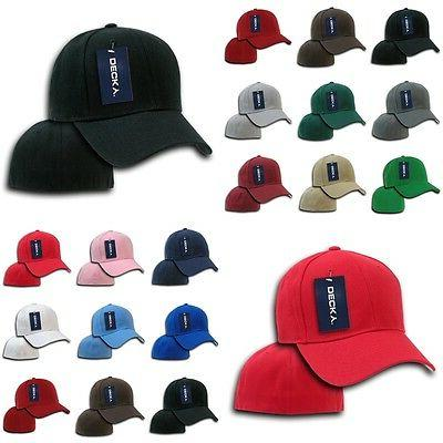 plain blank fitted curved bill 6 panel