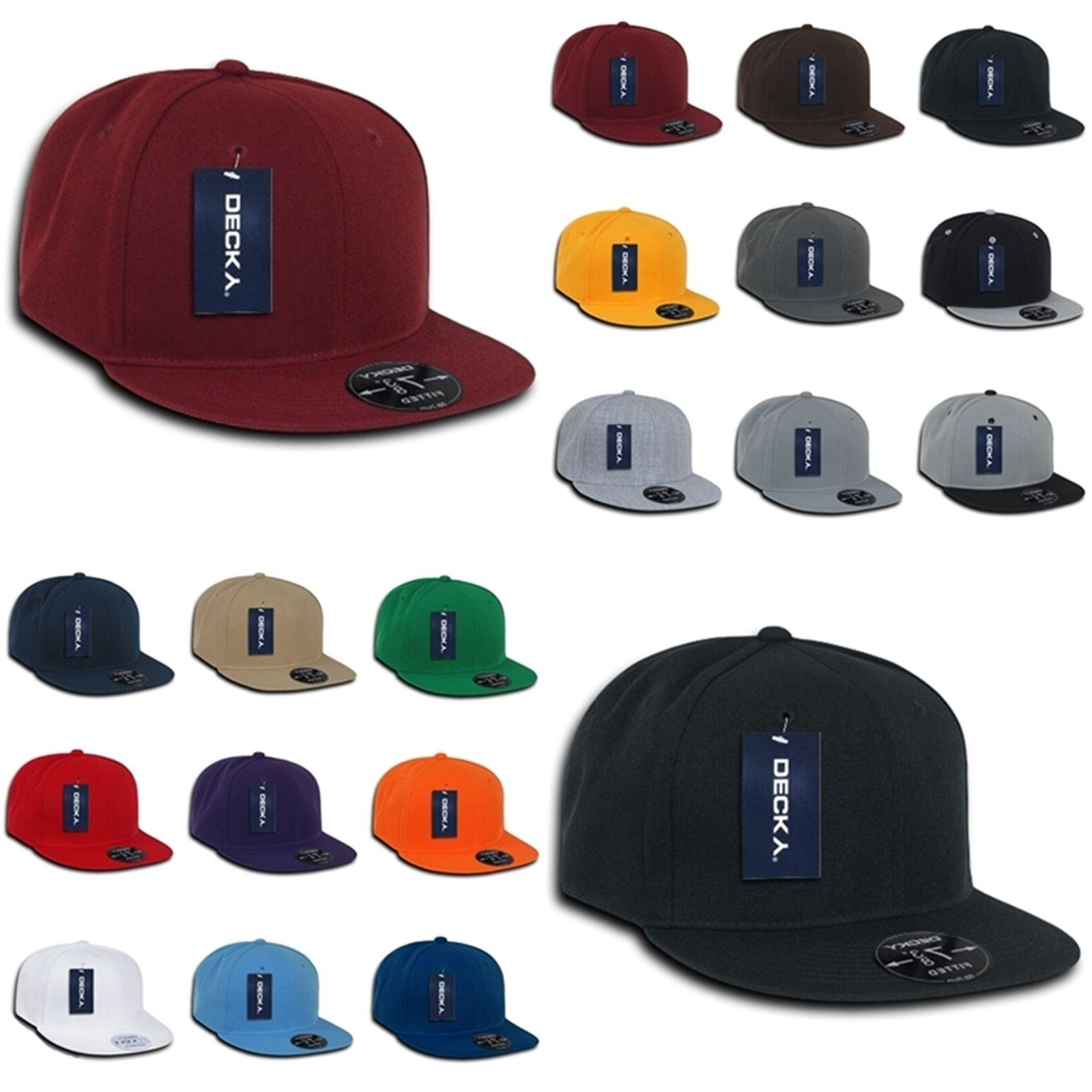 plain blank retro fitted flat bill baseball