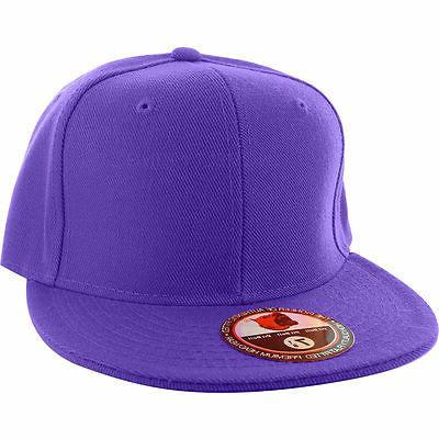 Plain Fitted Cap Visor New Solid Sport Colors