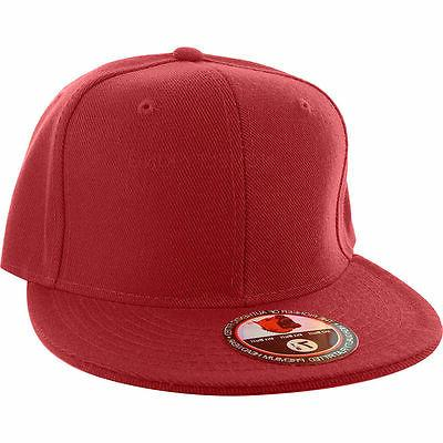 Plain Fitted Cap New Blank Solid Sport Colors