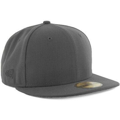 plain tonal 59fifty fitted hat graphite men