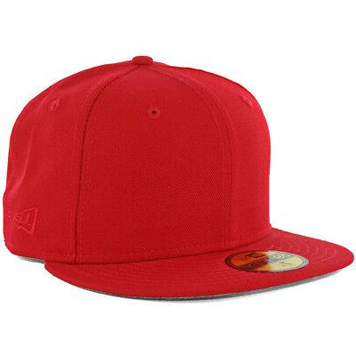 plain tonal 59fifty fitted hat scarlet red