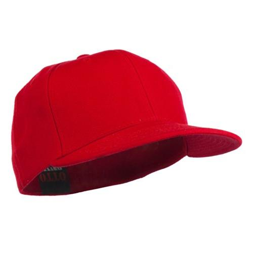 pro style wool fitted cap red 7