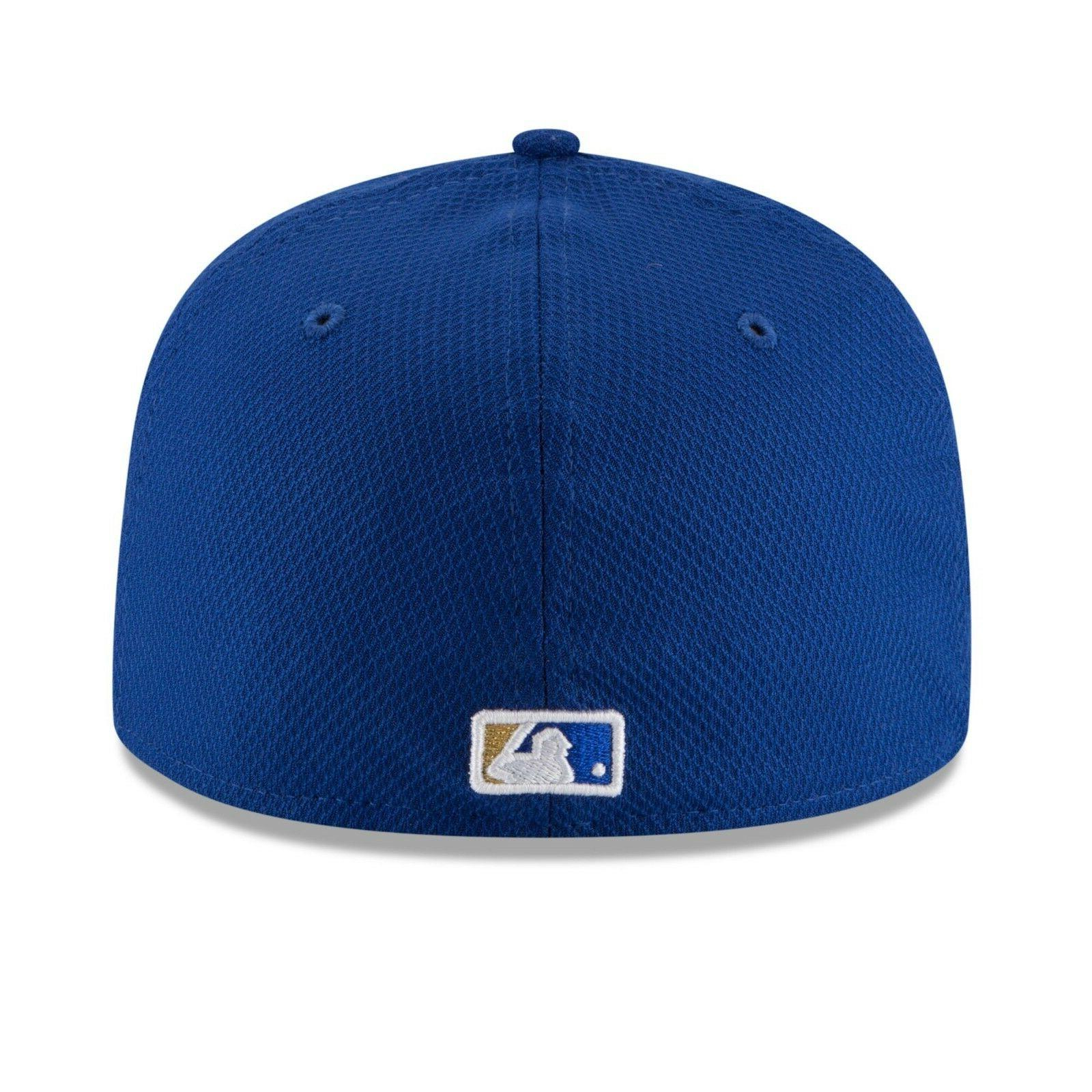 SIZE 1/2 NEW ERA ROYALS MLB BLUE GOLD FITTED CAP HAT