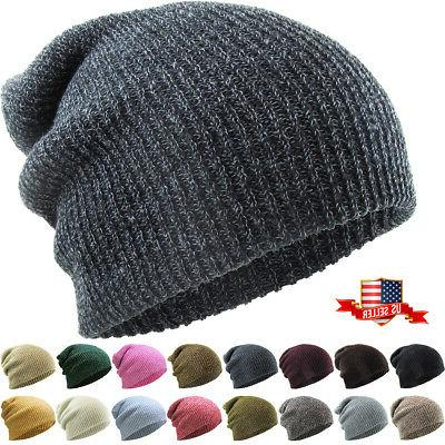 Slouchy Beanie Baggy Fit Winter Knit Ski Hat Skull Cap Overs