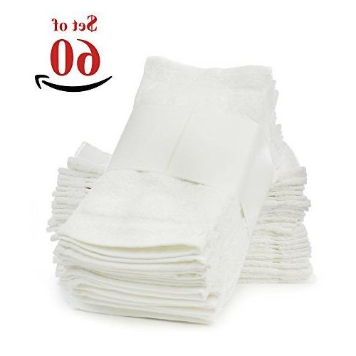 Soft Touch Linen Terry Cloth Face Towels, 12 x 12-Inch, Pack