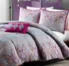 Boho Bedding For Teens Girls Comforter Set Hot Pink Paisley