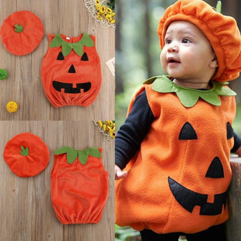 For Baby Halloween Costume Sleeveless Party + <font><b>Hat</b></font>