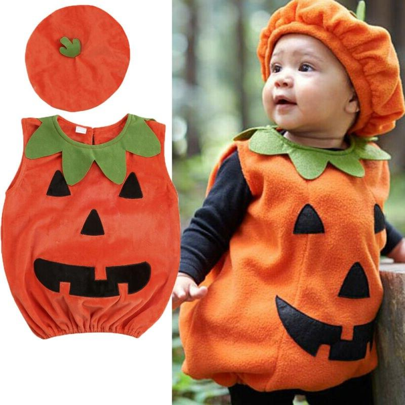 For Toddler Halloween Party Dress Tops + <font><b>Hat</b></font>
