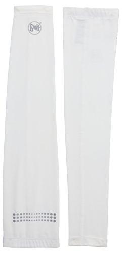 BUFF Unisex UV Arm Sleeves, White, S/M