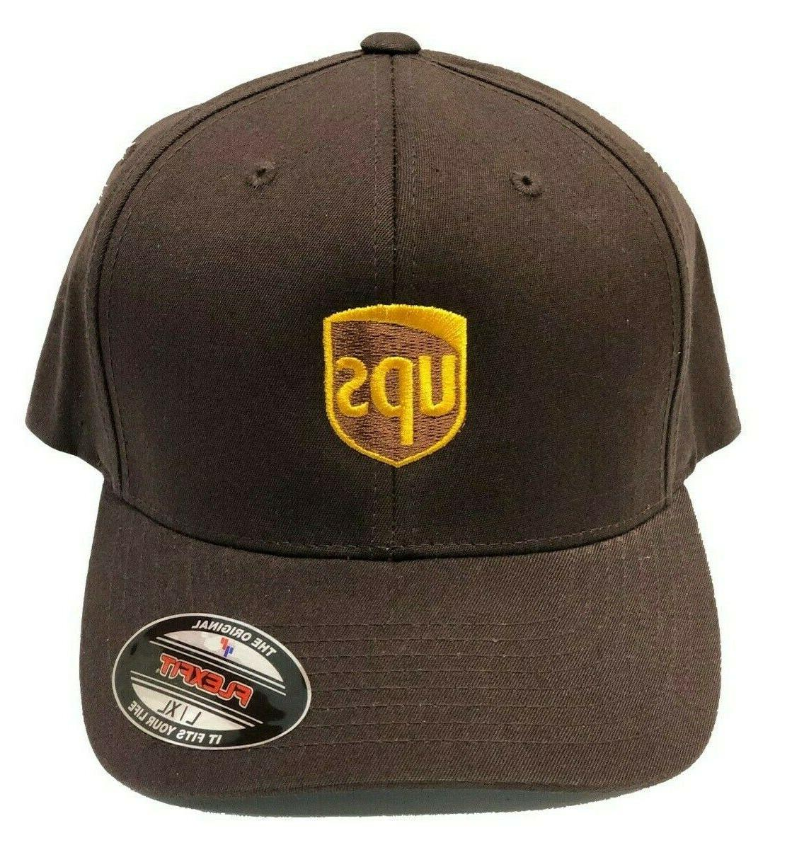 ups brown flex fitted cap hat delivery