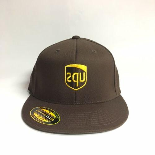 UPS Flexfit Fitted Cap Premium 210 Fitted Hat Brown S/M 6 7/