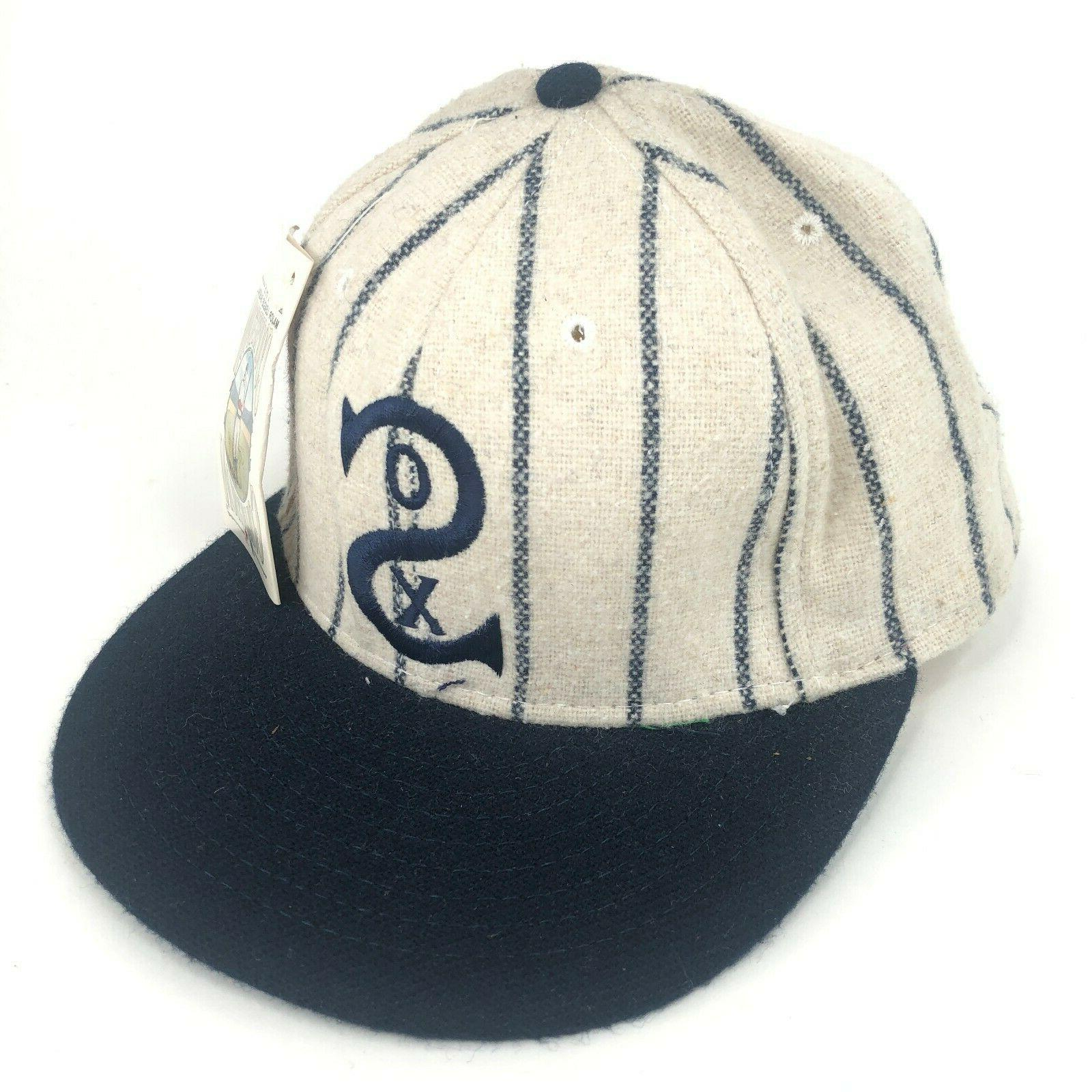 vintage chicago white sox fitted hat wool