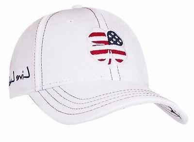 white usa lucky 2 premium fitted hat