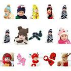 Winter Hats For Kids Warm Cap Beanie Panda New Scarf Girl Cu
