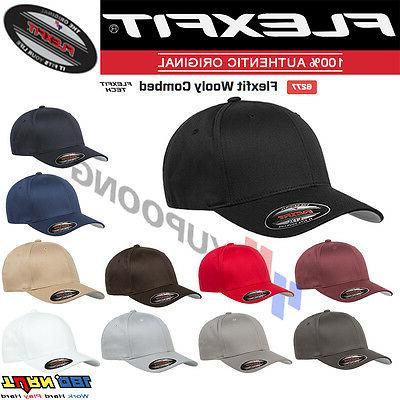 6277 wooly combed twill fitted baseball cap